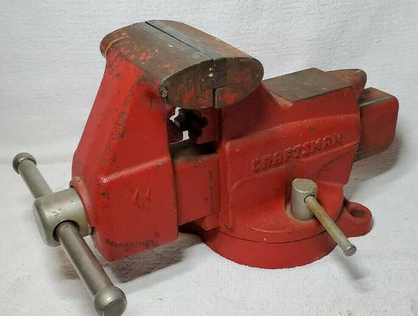 Photo Vintage Craftsman 4quot Bench Vise WSwivel Base and Anvil 391.5188 - $110 (Castle Rock)