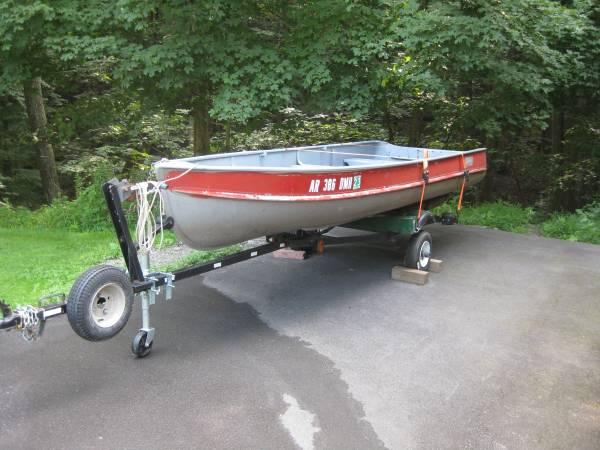 Photo 14 ft alumcraft w trailer - $800 (Factoryville)