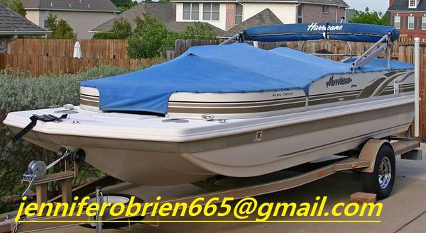 Photo 2003 Hurricane Deck Boat 198R with Trailer.. - $1,400 (Easton)
