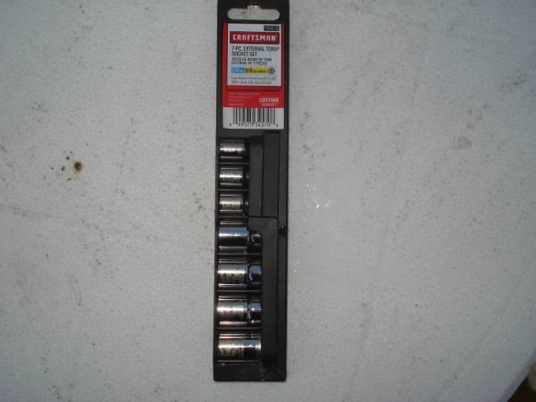 Photo Craftsman 7 pc Torx Socket Set - $15 (Moosic)
