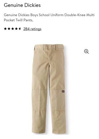 Photo Dickie Pants, 18 H  30 W, Teen Boys, Color Desert Sand, New with Tag - $15 (Duryea)