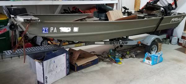 Photo Fisher 1436 Jon Boat w Trailer - $2,000 (MACUNGIE)