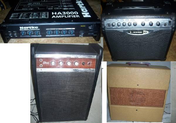 Photo Guitar sGibson Hawk,Dano tube,Line 6.BassAshdown,Crate,Hartke - $75 (Scranton)