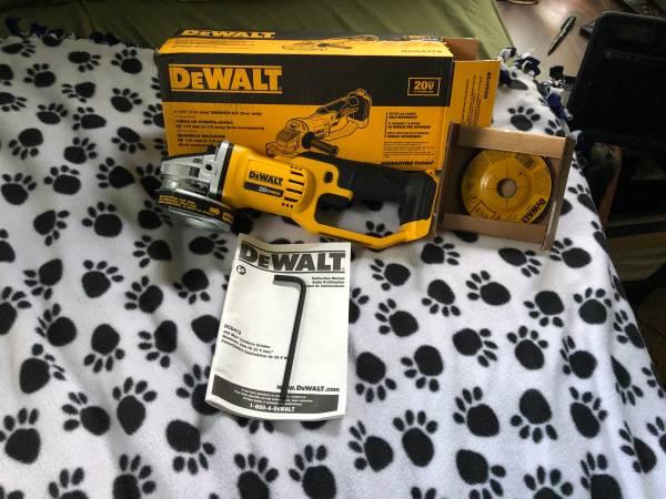 Photo New Dewalt 20v Cordless Grinder (bare tool) - $75 (Honesdale)