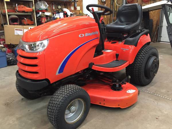 Photo Simplicity Conquest garden tractor 22hp 50 deck. Very Nice 79hours - $2,800 (Hunlock Creek)