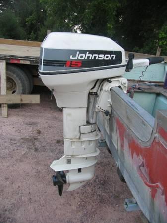 Photo 15 hp Johnson Outboard Electric Start Boat Motor - $1,500 (Heron Lake)