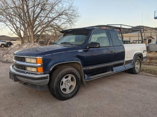 Photo 1995 CHEVROLET 1500 LS 5.7L V8 AUTOMATIC EC SB 4X4 - BLUE - $3,995 (RAPID CITY SD)