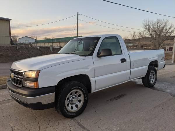 Photo 2007 CHEVROLET 1500 LS REGULAR CAB LONG BOX 4X4 - WHITE - $9,995 (RAPID CITY)