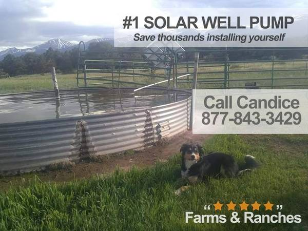Photo Live the Fantasy with Watering BigFlow 3 diameter Solar well Pump - $1,550 (sd)