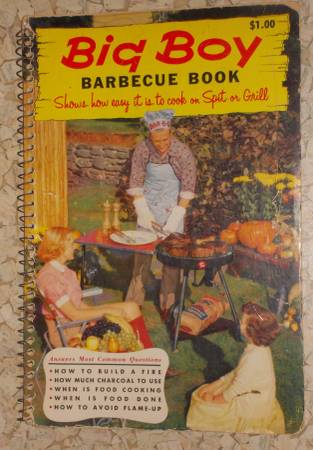 Photo 1956 Big Boy Barbeque Book cook on spit or grill color photos cookbook - $6 (Cosmopolis, WA Aberdeen Hoquiam Grays Harbor)