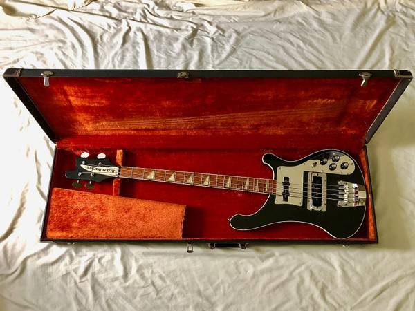 Photo 1978 Rickenbacker 4001 Bass Guitar Jetglo Black Hard Case - $1850 (Capitol Hill)
