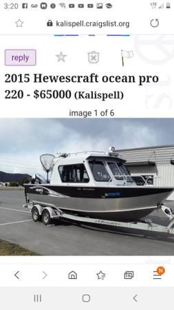 Photo 2015 Hewescraft ocean pro 220 - $65000 (Kalispell)