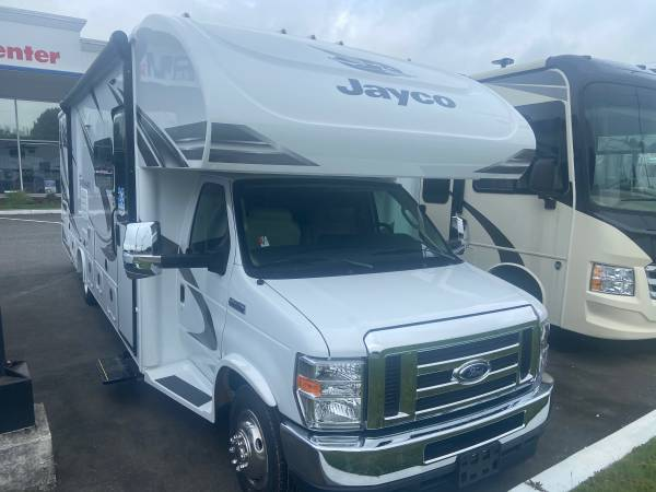 Photo 2021 Jayco Greyhawk 29mv Class C 2 Slide Outs Queen Bed 1 floorplan - $94,911 (NEW FORD CHASSIS)