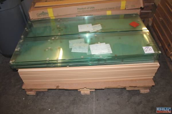 Photo (22pcs.) 139 x 439 Glass Shelves w (22) 139 x 439 Maple Shelves (Everett)