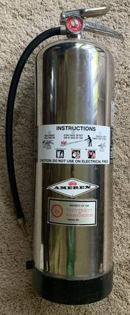 Photo Amerex Water Fire Extinguisher 2.5 gallon rechargeable at home - $45 (Mill Creek)