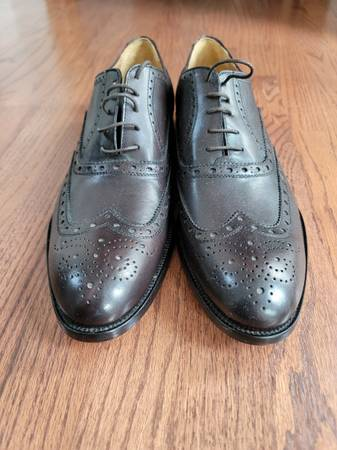 Photo Brand new Italian Leather Oxford Dress Shoes size 12 - $120 (SNOHOMISH)
