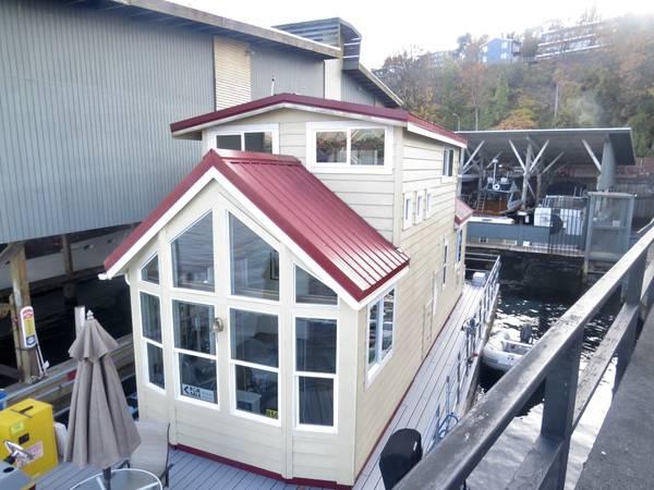 Photo End Slip Houseboat on Lake Union (SeattleDowntownSLU)