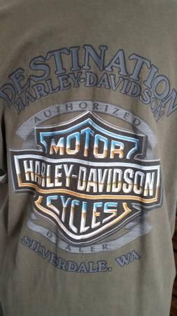 Photo Harley Davidson Tacoma Olive Green Short Sleeve T Shirt Mens Size Lar - $10 (Tacoma)
