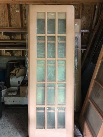 Photo HemlockFir interior glass 8 ft (96) door slabs (2 left) - $120 (Snohomish woodinville)