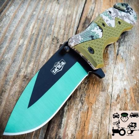 Photo KNIFE General Purpose Cing Green Two Tone Camo - $20 (Seatac)