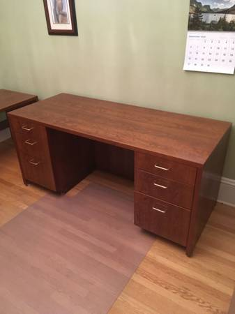Photo Office Desk With a Computer Desk - $300
