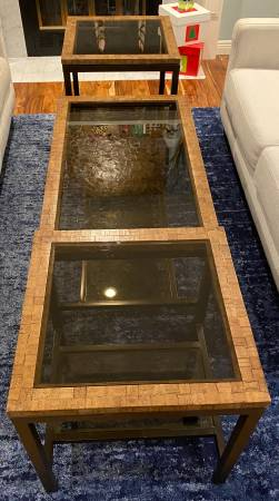Photo Pier 1 end tables and coffee table - $200 (Woodinville)