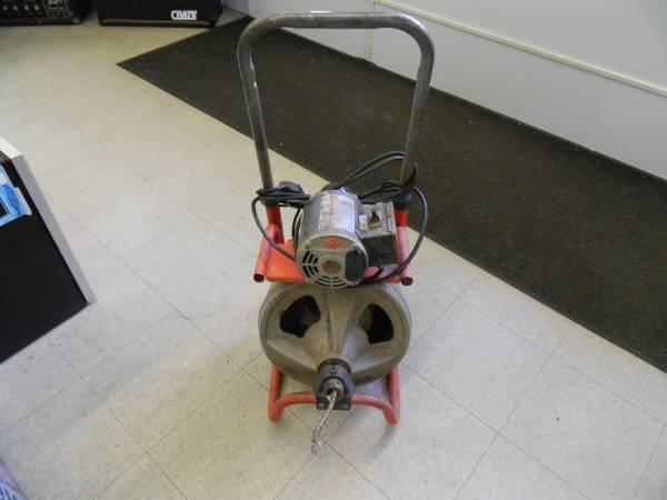 Photo Ridgid K-400- 115v 13HP Powered Drain Cleaner Drum Machine - $300 (Kent)
