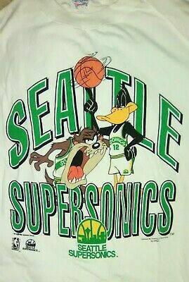 Photo Seattle Supersonics T-Shirt Men39s XL NBA Looney Tunes 1993 Taz Devil D - $150 (Burien)