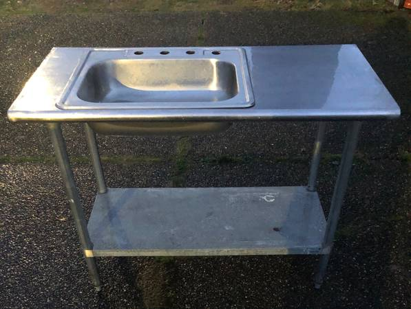 Photo Stainless Steel Countertop Prep Table Top Sink - $350 (Lynnwood)