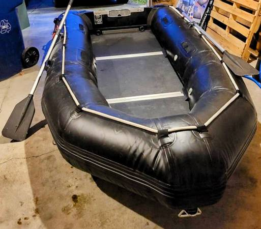 Photo TeamXtreme 1239 Inflatable Pontoon Zodiac Style Boat High Performance - $1,400 (S Seattle Kent)
