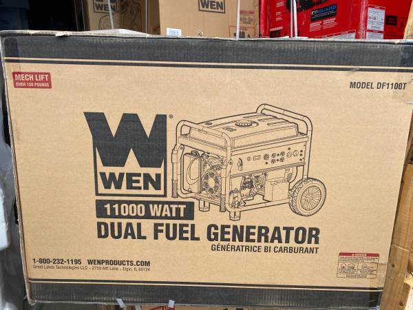 Photo WEN Dual Fuel Gasoline and Propane Powered Electric Start Portable Gen - $700 (Portland)