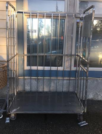 Photo large Commercial Grade Stainless Steel Cart On Heavy Duty Casters - $100 (Snohomish)