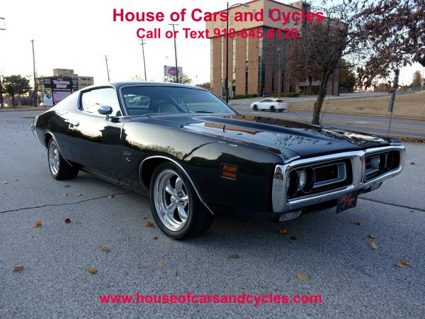 Photo 1971 Dodge Charger RT Clone, Black wWhite Interior, 440 CI Motor - $29950 (Tulsa)
