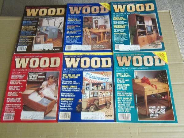 Photo Better Homes and Garden Wood Magazine (6 Issues-1989-27-32 - $6 (Derby)