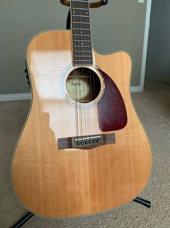 Photo Fender CD-320ASCE Acoustic Electric Guitar - $375