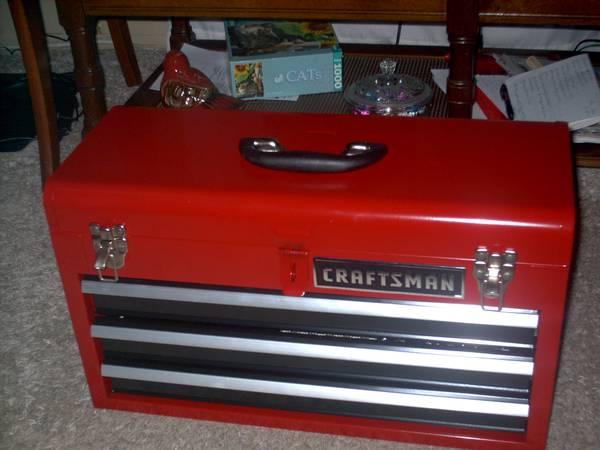Photo NEW CRAFTSMAN 160 PC TOOL SET PLUS 3 DRAWER TOOL BOX - $110 (eureka ks)