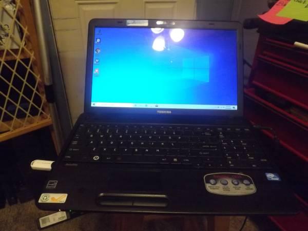 Photo Toshiba C655 dual core 6 Gb ram 320 Hd Win 10 - $125 (West Fork)
