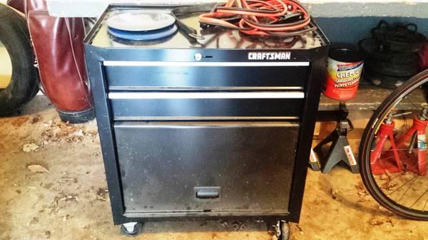 Photo Vintage Craftsman Rolling Tool Cabinet - $80 (Bentonville)