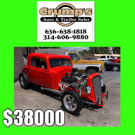 Photo 1934 Chevy 454 BIG BLOCK All Steel Body CUSTOM - $38000 (Crystal City)