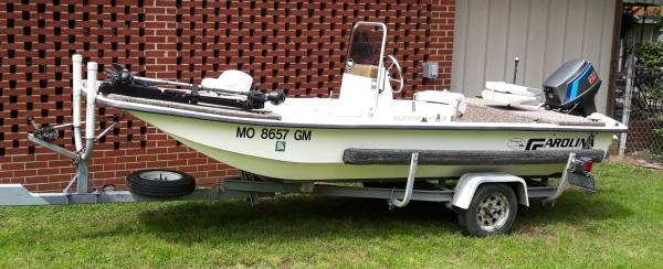 Photo 1997 Carolina Skiff J16 1652 Center Console Boat Water Ready - $5,500 (Sikeston)