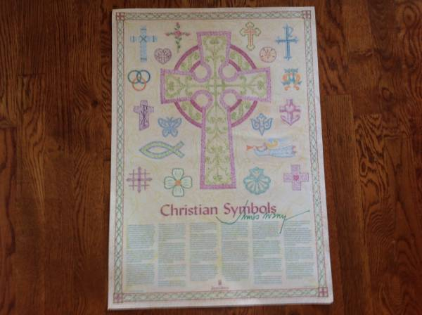 Photo Christian Symbols Art with ORIGINAL autograph by James Avery - $5 (Collierville)