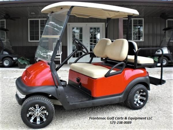 Photo Red Club Car Golf Cart 4 PassengerUtility Bed - $7,895 (Marble Hill)