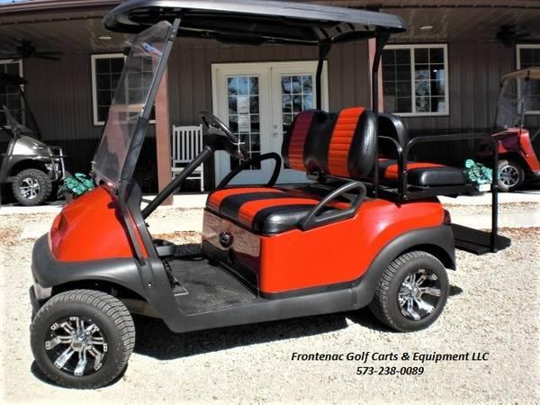 Photo Red Club Car Golf Cart 4 PassengerUtility Bed - $8,195 (Marble Hill)