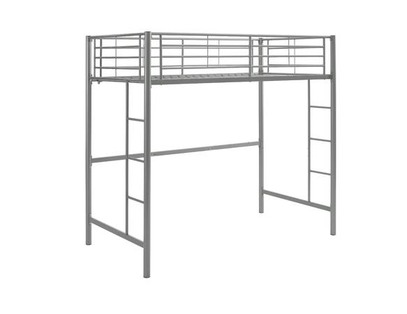 Photo Twin Metal Loft Bed, Silver - $115 (Wappapello State Park)