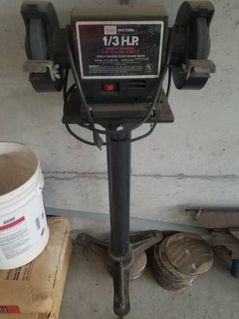 Photo Craftsman bench grinder on pedestal - $50