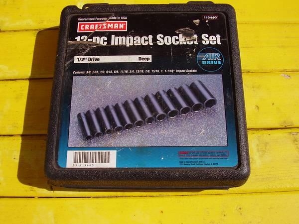 Photo Deep SAE Impact Wrench Socket Set - $75 (Sheboygan)