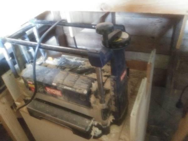 Photo Electric jigsaw, table saw, wood surfacer, drill press, nail gun, and more. - $850 (Sheboygan)