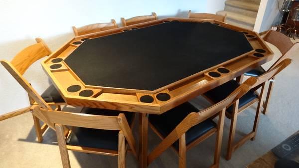 Photo For Sale 10 Person Poker Table - $800 (Elkhart Lake)