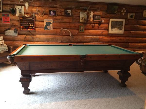 Photo Pool Table-Moving, Sales, Re Felts, and More - $1 (Lakeshore area)