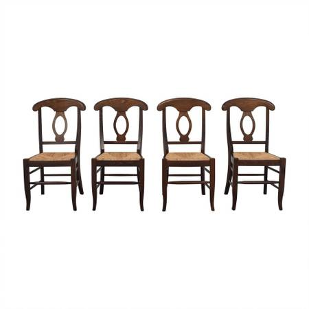 Photo Pottery Barn Walnut Napoleon Chairs, set of 8 - $500 (Sheboygan)